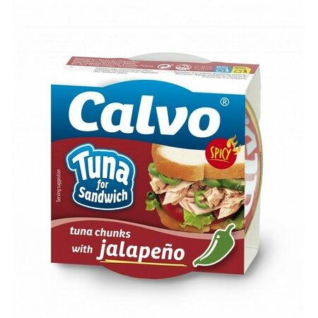 Ton pentru sandvis cu jalapeno, Calvo 142gr