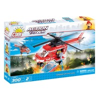 300 piese ACTION TOWN pompieri elicopter