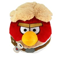 Jucarie de plus Star Wars Angry Birds Luke Skywalker, 15 cm