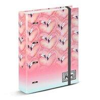 Agenda mare cartonata cu elastic OHMYPOP Flamingo