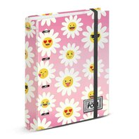 Agenda mare cartonata cu elastic OHMYPOP Happy Flower