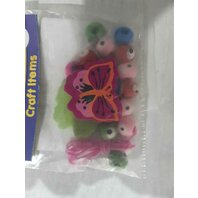 Art & Craft Fluturas , bilute  colorate si snur din nylon