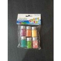 Art&Craft Sclipici pudra culori metalice 5G/6 buc