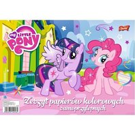 Caiet hartie colorata My Little Pony A4 - 10 file colorate autoadezive