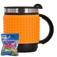 Cana thermo Pixie portocalie, 480 ml