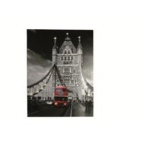 Canvas print cu 14 leduri, Londra Tower Bridge, rama de lemn,60 x 80 cm