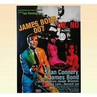 Canvas print, Poster Cinema James Bond, rama de lemn,50 x 70 cm
