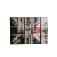 Canvas print,Vintage look London, rama de lemn, 70 x 50 cm