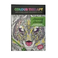 Carte antistres de colorat Amaizing Animals, A4 64 pag