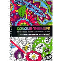 Carte antistres de colorat Colour Therapy, 160 pag