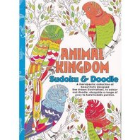 Carte de colorat pentru adulti: Animal Kingdom - Sudoku & Doodle A5