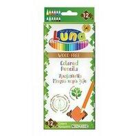 Creioane colorate wood free 12 buc Luna