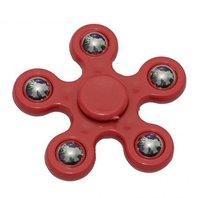 Colour mini Finger Fidget Spinner, rosu