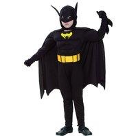 Costum Batman cu muschi, 4-6 ani