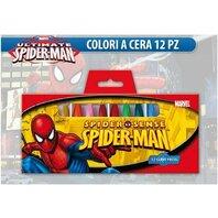 Creioane cerate 12 culori - Spiderman