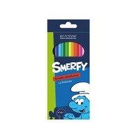 Creioane colorate Strumfii 12 culori