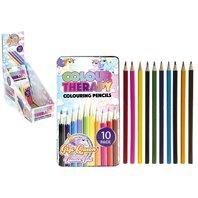 Creioane in cutie metalica Unicorn, 10 culori