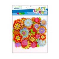 Decoratiune- Aplicatii Eva sticker floare 40 buc