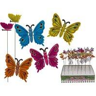 Decoratiune gradina de infipt- Fluture, 9,5 x 30 cm