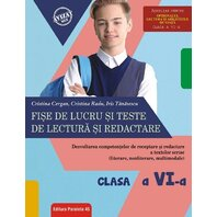FISE DE LUCRU SI TESTE DE LECTURA. CLS. VI. 2018-2019