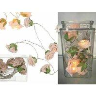 Ghirlanda pentru exterior cu led si baterii Trandafiri