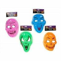 Halloween Masca 4 Modele - roz , portocaliu , albastru si verde