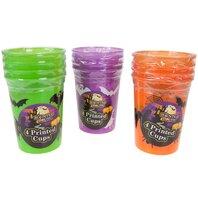 Halloween-SET 4 pahare de plastic 236 ml