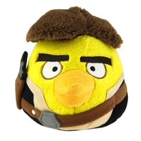 Jucarie de plus Star Wars Angry Birds Han Solo, 15 cm