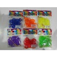 Loombands Set 100 inele, multicolore