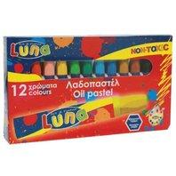 Luna Creioane cerate, baza de ulei, 12 buc