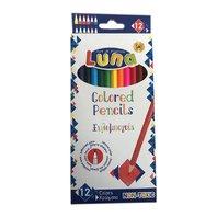LUNA Creioane colorate, 12 buc