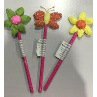 LUNA Creioane cu fluturi si flori