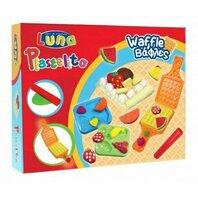 LUNA - Plastilina waffle - 3 culori cu forme 60g