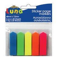 Luna Stickere Bookmarks, 5 culori, 20 buc