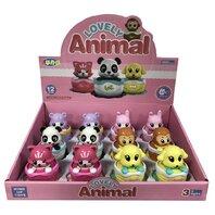 Masinuta cu cheita, Animale vesele,  6 modele disponibile