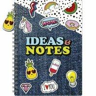 Notebook A4 cu spirala Pin Badge Wiz