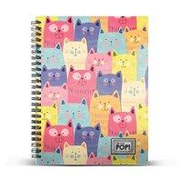 Oh My Pop- Caiet A4 de matematica cu arc,pisicute