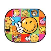 Parasolar auto SMILEY cu poster de colorat, 2 bucati