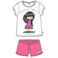 Pijama Anekke alb cu roz-6Y