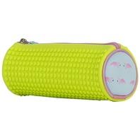 Penar Pixie tubular, galben neon cu flamingo