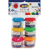 PLAY DOUGH 30gr χ 6 COLOURS LUNA