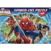 Puzzle Ultimate Spider-Man: Web-Warriors (Spider-cut puzzle, 104 piese) Clementoni