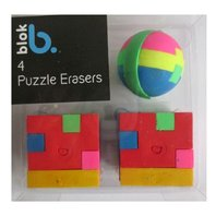 Radiere Blok  in forma de puzzle