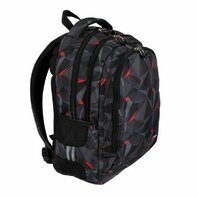 Rucsac cu 3 compartimente Black Abstraction, 45 cm