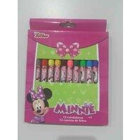 Set 12 creioane colorate in cutie Minnie