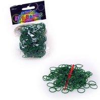 Set 250 inele de silicon verde inchis + unelte