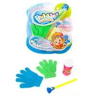 Set - Balonase de sapun magice + 2 Manusi Fun pentru a prinde bulele