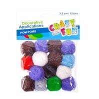 Set creativ - Aplicatii decorative Pom Pom, 12buc