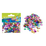 Set creativ - Aplicatii metalice colorate Floricele 12mm
