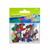 Set creativ - Aplicatii metalice colorate, rotunde 10mm